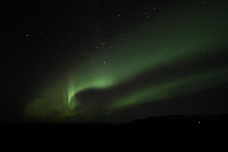 Northern Lights over Eyjafjallajökull (Iceland)