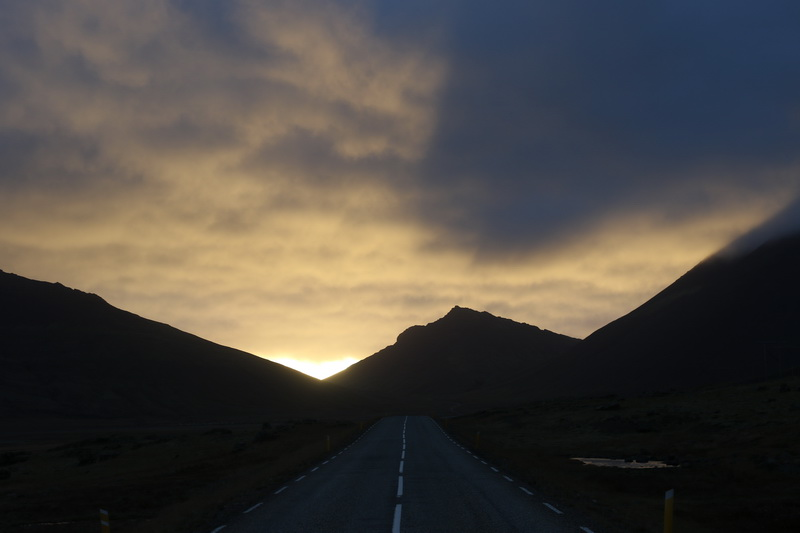 Sundown over the Hills of eastern Iceland
